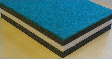 bonded carpet covered rollout gymnastic mats 42ft x 6ft x 1 3